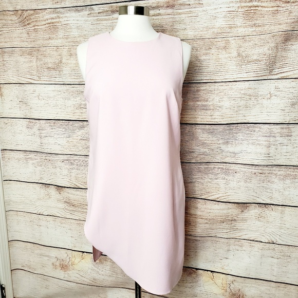 White House Black Market Tops - WHBM Curve Hem Tunic Sz L Rose Mint NWT